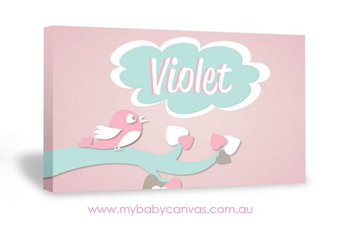 Custom Baby Canvas Chirp oh little birdie!