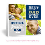 Custom Baby Canvas World's Greatest Dad