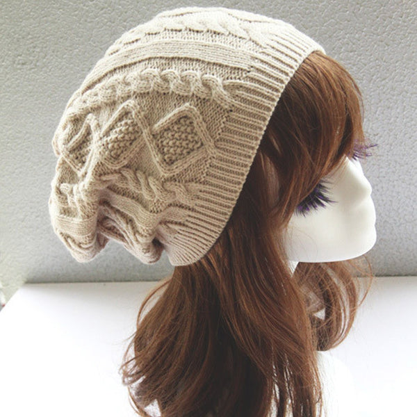 Knitted Twist Pattern Winter Knitted Hats - Just-Trendy.com - 6