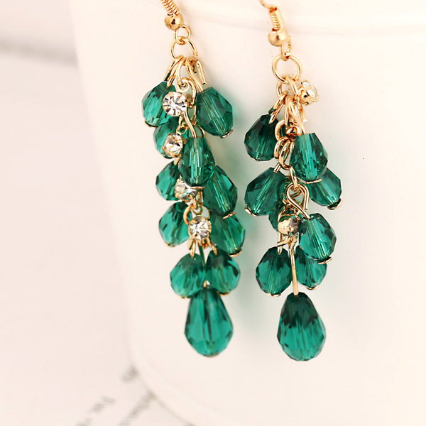 Crystal tassels nightclub crazy earrings for women E012, Jewellery - Just Trendy
