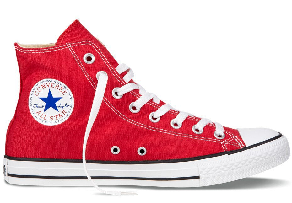 converse red canvas shoes