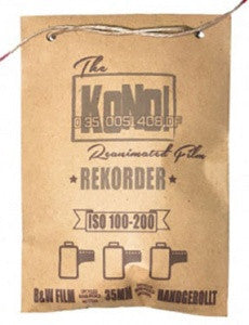 REKORDER 100-200 / EXPERIMENTAL FILM – 35mm, B&W FILM (3-pack) - KONO The Reanimated Film Analogue Photography Film