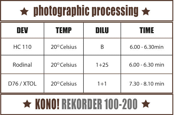 Single Film - REKORDER 100-200 / EXPERIMENTAL FILM – 35mm, B&W FILM (1-pack) - KONO The Reanimated Film Analogue Photography Film