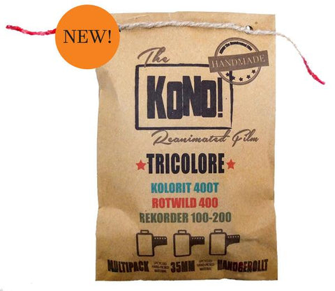 TRICOLORE – 35mm, Color Negative Film / B&W Film / Effektfilm (3-pack) - KONO The Reanimated Film Analogue Photography Film