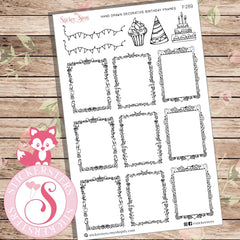 Decorative hand drawn party frames and borders