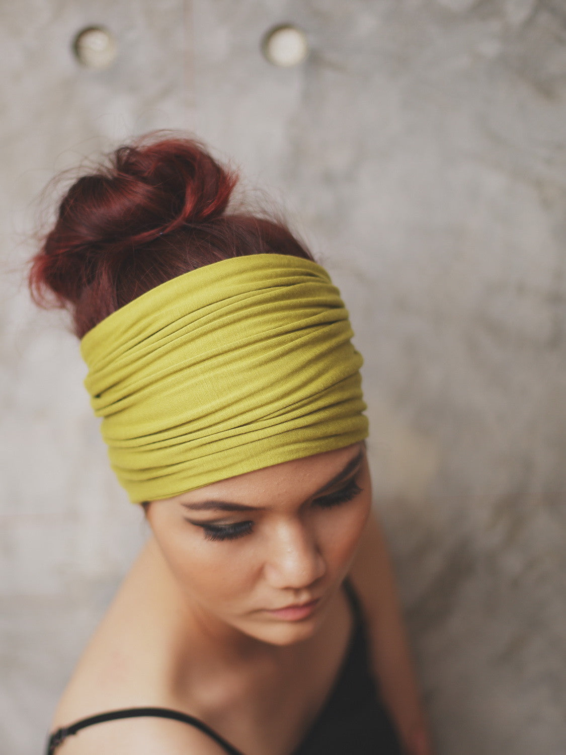 CHARTREUSE GREEN   Double-Sided Extra Wide Headband by Zizway f7550302987