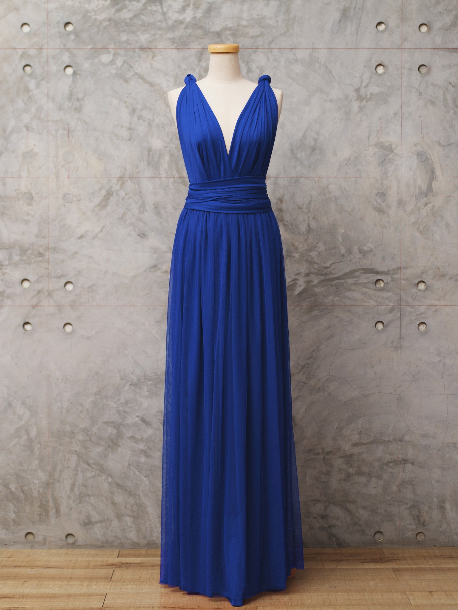 d346d83cfb9 ROYAL BLUE  p   h2  Two-piece Tulle Convertible dress ...