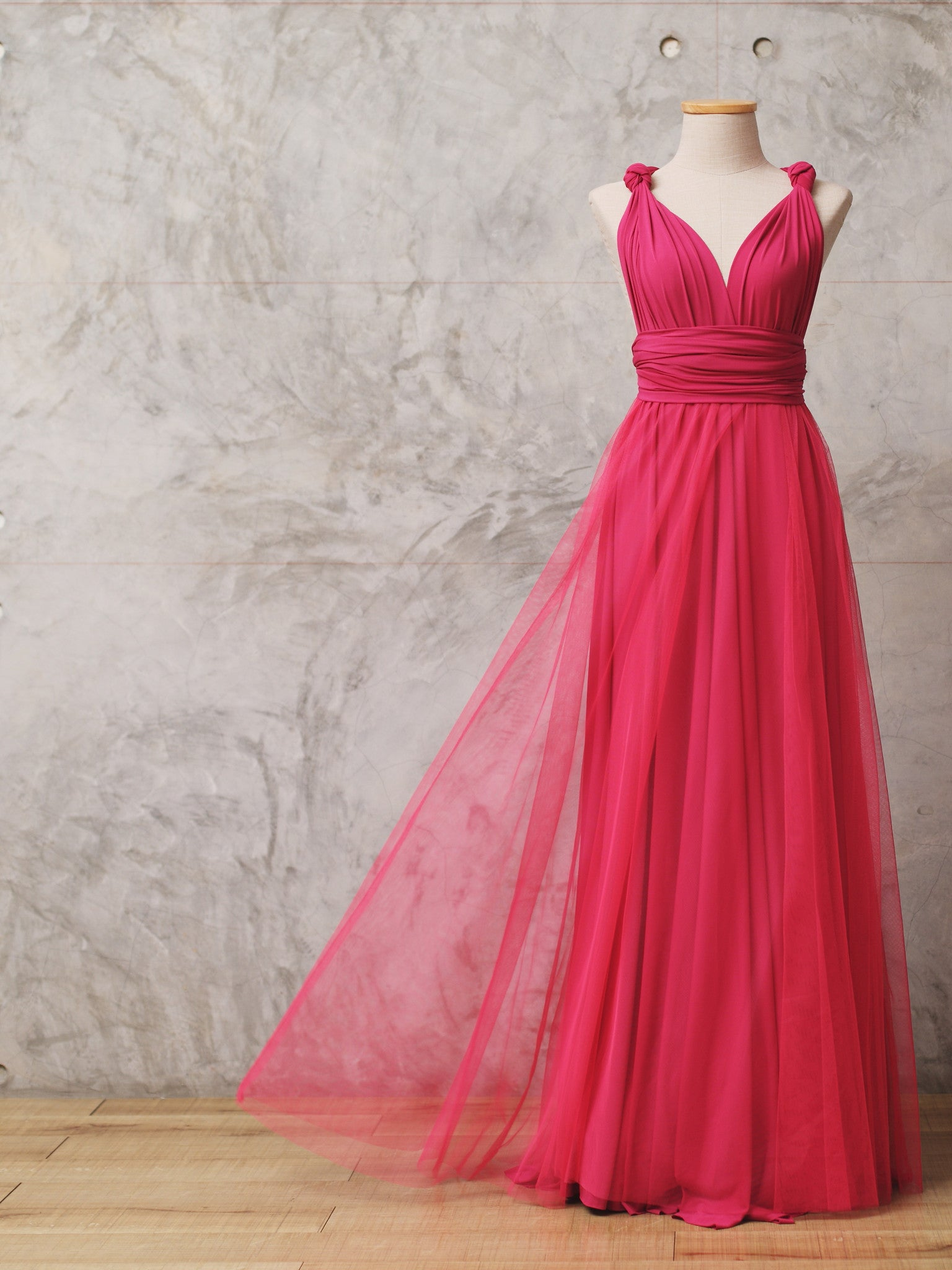 f998b60d8ef6a ROUGE   Tulle Convertible Dress   Bridesmaid Dress - Zizway