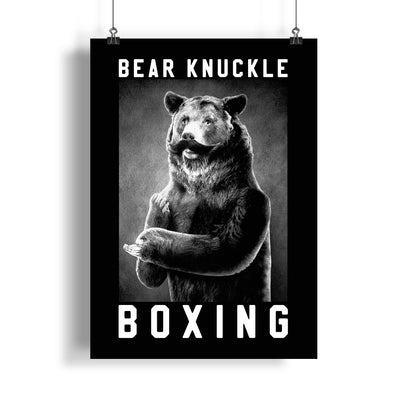 Bear Knuckle Boxing 18x24 Poster