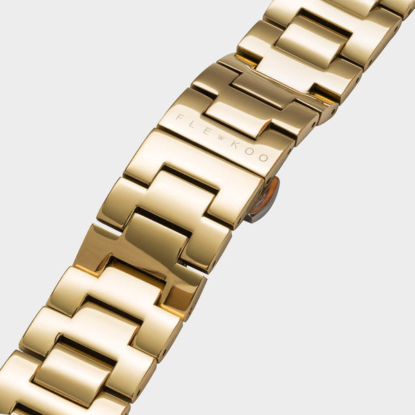 20mm - Gold Plated Steel Band - Flewkoo