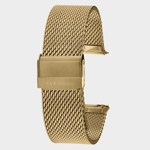 20mm - Gold Stainless Steel Mesh Strap
