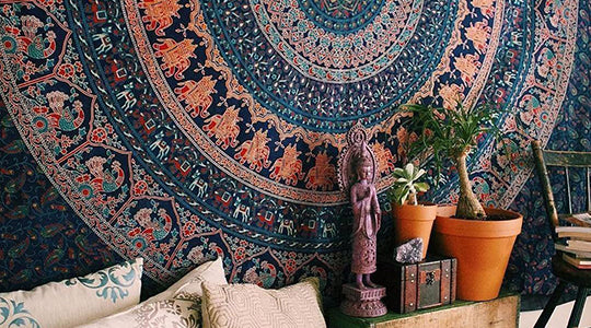 8 Different Ways to Hang a Tapestry