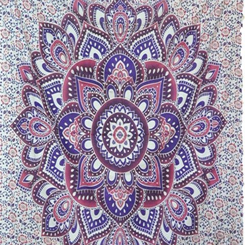 Blue Hippie Ombre Mandala Tapestry