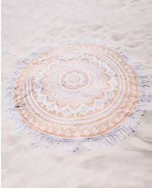 Gold Ombre Mandala Roundie 70 Inch