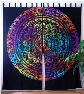 Tie Dye Mandala  Curtains