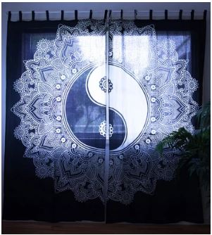 Black & White Yin Yang Curtains