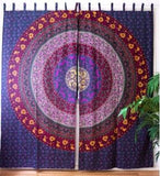 Multi Colored Mandala Curtains