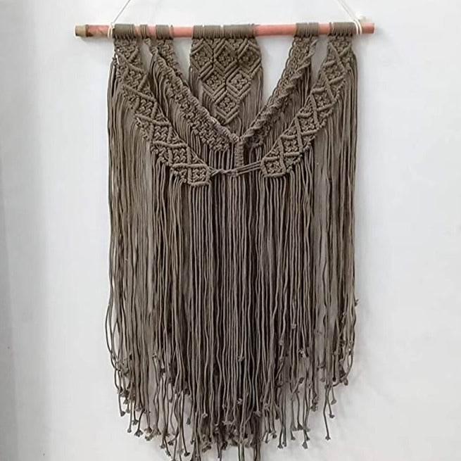 Brown - Derby  Macrame Art Size 24