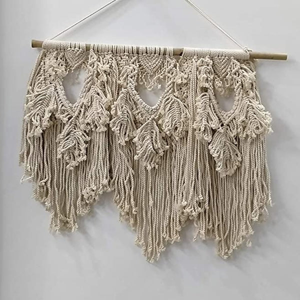 "White color Macrame Art Size 24"" X 24""inch"