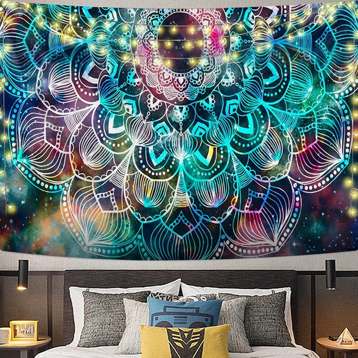 Digital HD Galaxy Polyester Tapestry (Twin((72x41 Inches)(183x104cms))