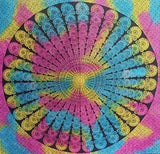 Bless International Indian Hippie Bohemian Psychedelic (Queen (84x90Inches)) (Morpankh Tye Dye Mandala Tapestry)