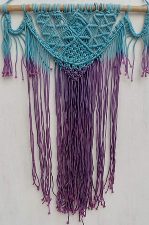 "Moonlite Color  Macrame Art Size 24"" X 32""inch"