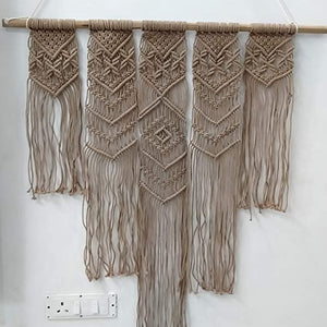 "White color Macrame Art Size 36"" X 40"" inch"