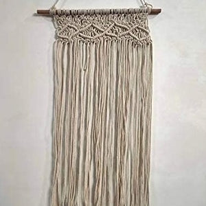 "White Color Macrame Art Size 16"" X 32""inch"