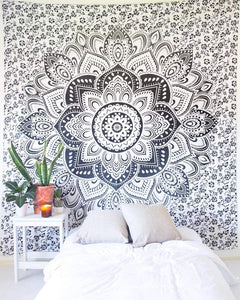 Bless International Indian Hippie Bohemian Psychedelic Tapestry (Queen (84x90Inches)) (Minimal Mandala Tapestry)