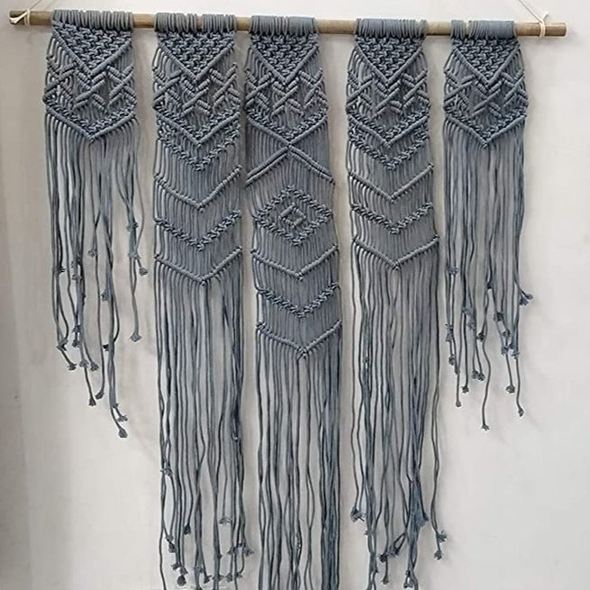 Blue color Macrame Wall Hanging Art Size 36