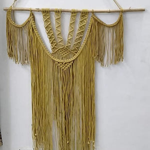 "Golden Color Macrame Art Size 36"" X 48""inch"