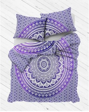 Purple Ombre Mandala Duvet Cover