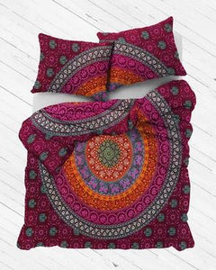 Tropical Festival Mandala Duvet Cover