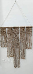 "Brown Chocolate Macrame Art Size 36"" X 40"" inch"