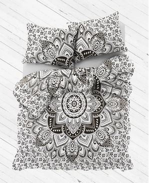 Black & White Mandala Duvet Cover