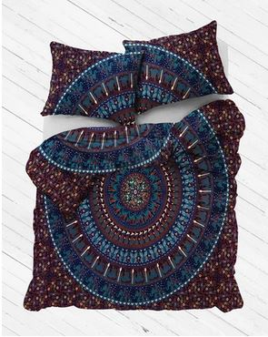 Blue Egypt Mandala Duvet Cover