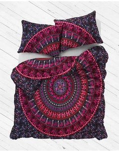 Purple Kaleidoscope Mandala Duvet Cover