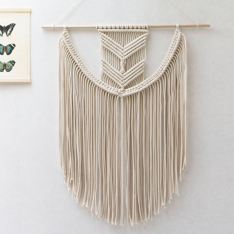 "Beautiful Valley Macrame Wall Hanging (24""X32""inches)"
