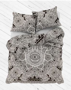 Black & White Hamsa Duvet Cover