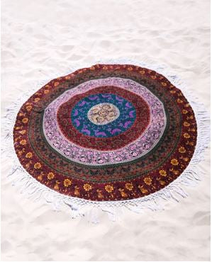 Multi Colored  6 kam Mandala Roundie 70 Inch