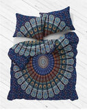 Turquoise Summer Nights Mandala Duvet Cover