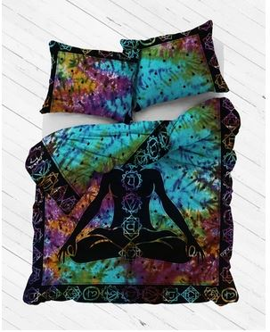 MULTI BUDHA QUEEN SIZE 100% COTTON DUVET COVER