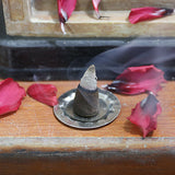 Bless-Frankincense-and-Myrrh 100%-Natural-Incense-Cone Handmade-Hand-Dipped-Fragrant-Cone-with-Burning-Stand