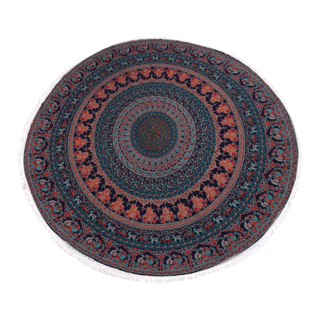 Psychedelic Mandala Roundie  Beach Towel, Table Cover