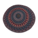 Psychedelic Cotton Mandala Roundie Indian Hippie Bohemian Beach Towel, Table Cover Tapestry