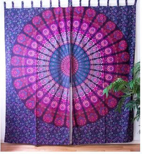 Magenta Mandala Curtains