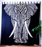 Black & White Elephant Curtain