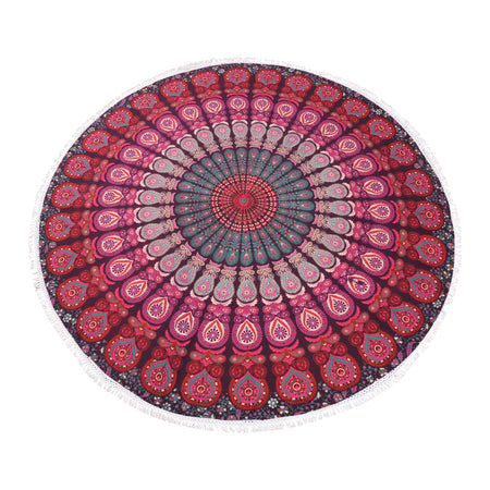 Purple Pink Roundie  Beach Towel, Table Cover