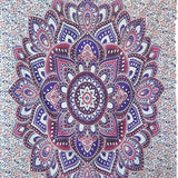 Indian Blue Purple Hippie Ethnic Bohemian Psychedelic Ombre Mandala Handmade Tapestry - Bless International - Tapestries & Handicraft Exporter & Retailer - 3