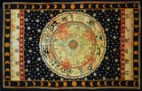Indian Zodiac Horoscope Hippie Bohemian Beach Blanket Bedspread Handmade Tapestry